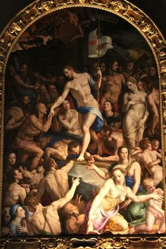notizie  G.M.  guido michi: Agnolo Bronzino, discesa di Cristo al limbo, 1552-...