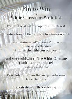 instruction board #whitechristmaswishlist