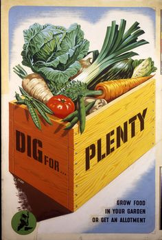 Uploaded by Trig of Aidan Brooks: Trainee Chef A Dig For Victory campaign poster from World War II.