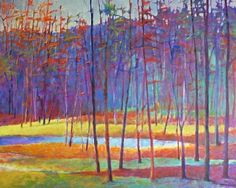 Love the colors in this Ken Elliot tree painting