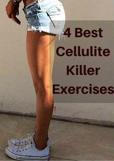 It is possible to get rid of cellulite without spending a thing. Exercise and the right foods are key to reducing cellulite Combattre La Cellulite, Cellulite Exercises, Thigh Exercises, Cellulite Remedies, Reduce Cellulite, Dieta Fitness, Health Fitness, Woman Fitness, Gewichtsverlust Motivation