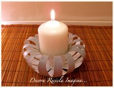 recycling plastic bottles: make candle holder