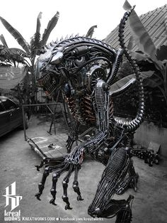 Hey, I found this really awesome Etsy listing at https://www.etsy.com/listing/167727648/aggressive-recycled-metal-monster-large