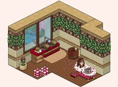 Habbo: Let's Build Habbo Hotel, Romantic Bathrooms, Isometric Art, I Love You All, Drawing Reference, Pixel Art, Art Drawings, Lego, Geek Stuff