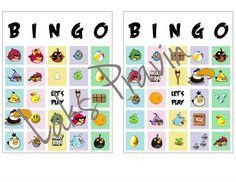 DIY angry birds bingo