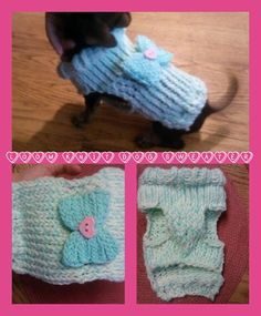Loom knit dog sweater
