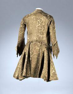 Silk coat, 1740s, England, National Gallery of Victoria, Melbourne, Australia.