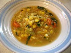 Quinoa Soup with Corn