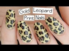 Beginner's Nail Art | Gold Leopard Print - http://47beauty.com/nails/index.php/2016/08/17/beginners-nail-art-gold-leopard-print/ http://47beauty.com/nails/index.php/nail-art-designs-products/    Leopard print is my most recommended design for beginners – here's how to do it! Subscribe & LIKE to see more videos like this! The blog post for this design is here: http://www.naileditnz.com/2014/11/gold-leopard-print-nail-art-tutorial-on.html Nail polish used: Nico