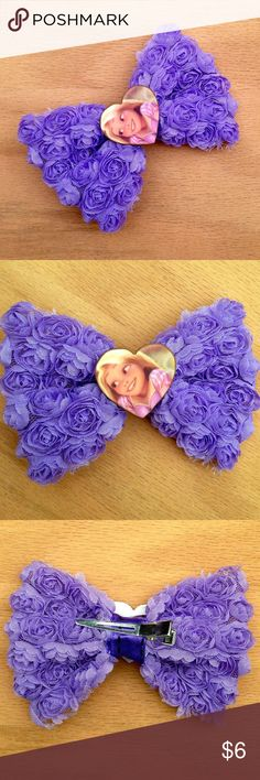 Rapunzel Hair Bow Handmade bow with a Rapunzel charm. This is themed after Disney's Tangled.  We offer 30% off on all bundles. Go ahead and add to bundle to receive discount.  Most items listed are ready to ship but if you need something sooner please let us know before ordering. Accessories Hair Accessories