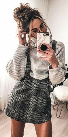 Preppy Outfit Ideas To Wear This Winter - Herren- und Damenmode - Kleidung Adrette Outfits, Cute Casual Outfits, Fashion Outfits, Womens Fashion, Fashion Trends, Preppy Outfits For School, Cold Weather Outfits For School, Fashion Ideas, Korean Outfits