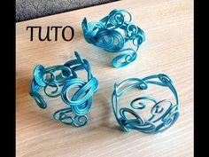 ▶ [ TUTO ] bracelet en fil aluminium 1 - YouTube