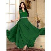 fabfiza-dark-green-velvet-georgette-semi-stitched-anrkali-gown