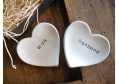 [ Ring Dish Wedding Ring Holder Husband Wife Promisepottery ] - Best Free Home Design Idea & Inspiration Engagement Gifts For Her, Personalized Engagement Gifts, Wife And Husband Relationship, Husband Wife, Traditional Engagement Gifts, 10k Instagram Followers, Dua For Love, Ring Holder Wedding, Ring Holders