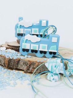 Μπομπονιέρα Βάπτισης Σαπουνάκι Soap Tales τραινάκι Place Cards, Soap, Place Card Holders, Cake, Desserts, Tailgate Desserts, Deserts, Kuchen, Postres