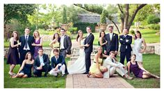 bridal party posing-- except we won't have this many people :P