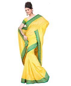 Yellow Bhagalpuri Saree With Blouse 60062