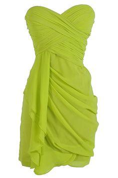 Dreaming of You Chiffon Drape Party Dress