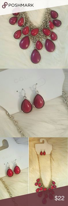 NWT* Color* Statement Necklace & Earrings* NWT * Color by Croft & Barrow* Statement Necklace & Earrings * Gorgeous colors* Great set* Feel free to Inquire and ask Questions * Reasonable offers accepted * Bundle & Save * Color Accessories