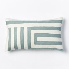 Kate Spade Saturday Signature Zigzag Pillow Cover - Light Pool #westelm $39