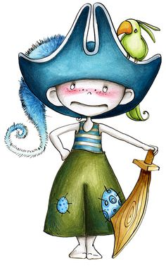 PIRATE 1 / Sticker mural / Wall stickers / Design Emmanuelle Colin