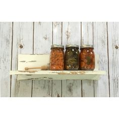 Floating Shelf Floating Shelves Kitchen Shelf Wall Shelves Reclaimed... ($42) ❤ liked on Polyvore featuring black, home & living, kitchen & dining, kitchen storage and spice racks