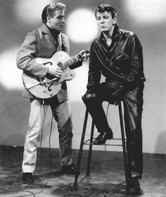 Eddie Cochran and Gene Vincent