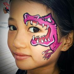 Tash Curry Dinosaur  Face Painting  Design