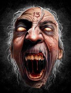 Agony x 13 Zombie Kunst, Zombie Art, Arte Horror, Horror Art, Bob Tyrrell, Zombie Monster, Monster Art, Arte Obscura, Demon Art