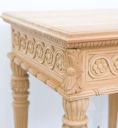 Traditional Carved Console Table / Two Urns Side Table / Dutch Connection