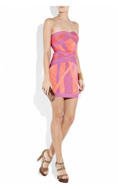 Geometric Jacquard Cheap Bandage Dress