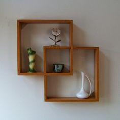 MiD MoD Cubist Curio Shelf by RoomServiceVintage on Etsy | Shop home, home_organizing,cleaning| Kaboodle
