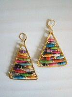 Anthro knock-off hue pyramid earrings