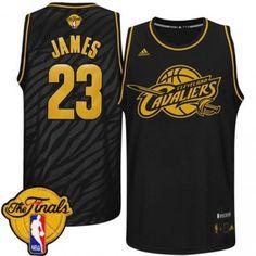 a993c9091 Adidas NBA Cleveland Cavaliers  23 Lebron James Static 2015 NBA Finals  Patch Fashion Swingman Black