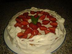 deliciosa tarta de fresa.