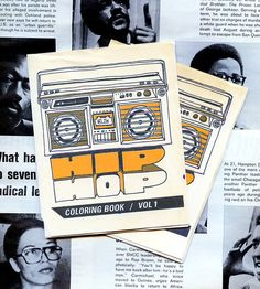 Hip Hop Coloring Book Mini Zine - A Brief Early History of Hip Hop  For Peter