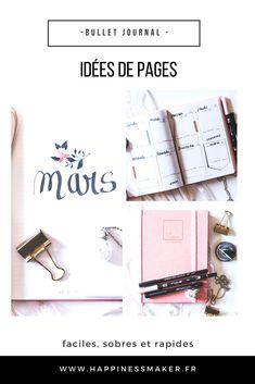 idées de pages faciles pour bullet journal débutant