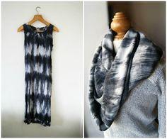 DIY dress to circle scarf refashion! Circle Scarf, Diy Dress, Refashion, Diy Fashion, Color Combinations, Fur Coat, Sewing, Knitting, Crocheting