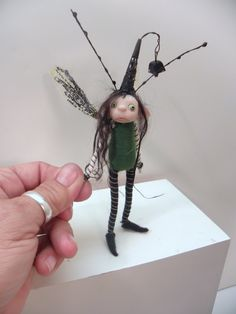 little bug pixie fairy in green by Dinkydarlings