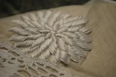 Hand embroidery with lace | Flickr - Photo Sharing!