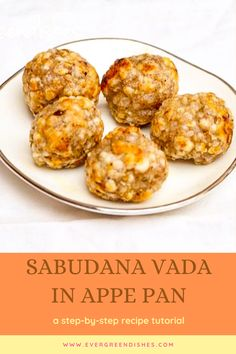 Sabudana Vada in appe pan is tasty and a guilty-free snack. It is vegan and gluten-free. It is ideal to serve with tea as evening snack. Amazing Recipes, Delicious Recipes, Great Recipes, Vegetarian Recipes, Snack Recipes, Tasty, Favorite Recipes, Sabudana Vada, Dry Snacks