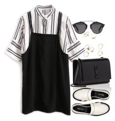 """Untitled #1858"" by itsmeischoice on Polyvore featuring Yves Saint Laurent, Nine West and Christian Dior"