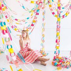 Rainbow Paper Chain Garland - Rainbow Paper Chain Garland La mejor imagen sobre healthy breakfast para tu gusto Estás buscando a - Girl Birthday, Birthday Parties, Birthday Bash, Paper Chains, Rainbow Paper, Happy Day, Birthday Decorations, Party Planning, Party Time