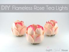 These flameless rose tea lights. | 28 Adorable Candle Crafts That Will Help You Brave The Cold