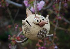 Ptáček z keramiky na zavěšení