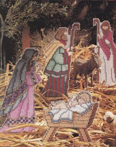 Nativity Plastic Canvas Pattern - Christmas