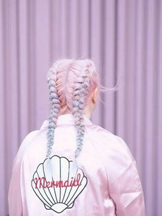 Pastel lilac and pink hair & awesome braided style inspiration <3