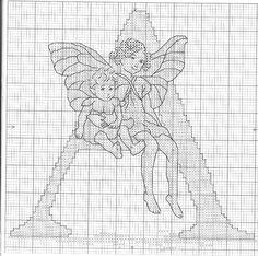 Flower Fairies Alphabet - A Apple Blossom Fairies 1/28
