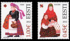 Estonian Folk Costumes on Stamps