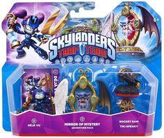 Figurine Skylanders : Trap Team - Déjà Vu + Mirror Of Mystery + Rocket Ram + Tiki Speaky: Amazon.fr: Jeux vidéo